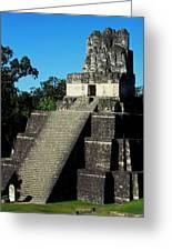Mayan Ruins - Tikal Guatemala Greeting Card by Juergen Weiss