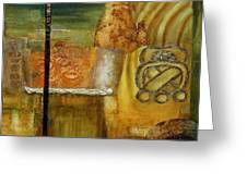 Mayan U O Greeting Card by Gilda Pontbriand