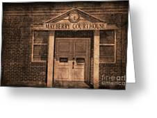 Mayberry Courthouse Greeting Card by David Arment