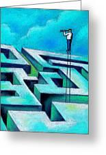 Maze Greeting Card by Leon Zernitsky