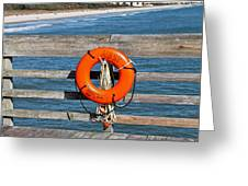Mbsp Pier Greeting Card by Jessica Brown