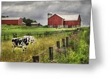 Mcclure Farm Greeting Card by Lori Deiter