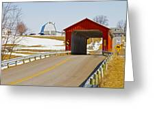 Mccolly Covered Bridge Greeting Card by Jack R Perry