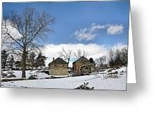 Mccormick Farm In Winter Greeting Card by Todd Hostetter