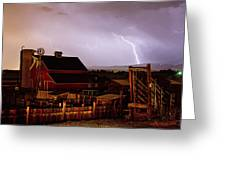 Mcintosh Farm Lightning Thunderstorm Greeting Card by James BO  Insogna