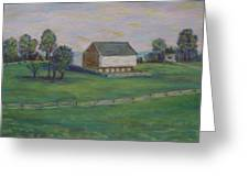 Mcphersons Barn Gettysburg Greeting Card by Joann Renner