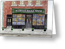 Mcsorley's Old Ale House Greeting Card by AFineLyne