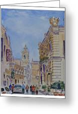 Mdina Malta Greeting Card by Godwin Cassar