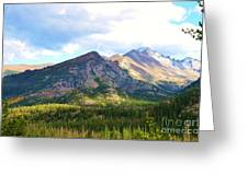 Meadow And Mountains Greeting Card by Kathleen Struckle