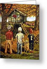 Meadow Haven Greeting Card by Linda Simon