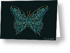 Mechanic Butterfly Greeting Card by Budi Satria Kwan