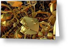 Mechanical Olfactory Receptors.  2012  52/90 Cm. Greeting Card by Tautvydas Davainis