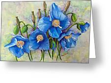 Meconopsis    Himalayan Blue Poppy Greeting Card by Karin  Dawn Kelshall- Best