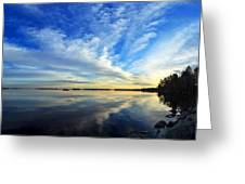 Meddybemps Reflections 4 Greeting Card by Bill Caldwell -        ABeautifulSky Photography