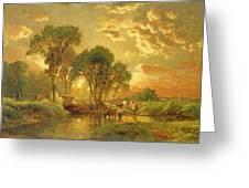 Medfield Massachusetts Greeting Card by Inness
