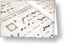 Mediavel Chorus Book  Greeting Card by Fabrizio Troiani