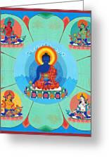 Medicine Buddha Greeting Card by Ies Walker