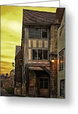 Medieval Alley Greeting Card by Gabriela Wernicke-Marfo