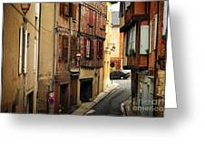 Medieval Street In Albi France Greeting Card by Elena Elisseeva