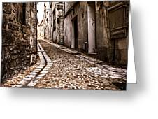 Medieval street in France Greeting Card by Elena Elisseeva