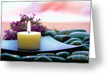 Meditation Candle Greeting Card by Olivier Le Queinec