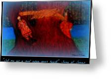 Meditation Number 3 Song Of Songs Greeting Card by Maryann  DAmico