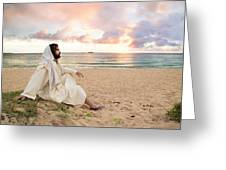 Meditation Of Christ Greeting Card by Lois Colton