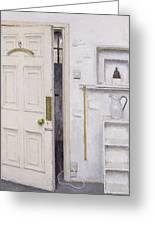 Meditation On A Door I Greeting Card by Charles E Hardaker