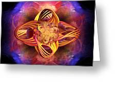 Meditative Energy Greeting Card by Elizabeth S Zulauf