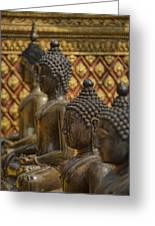 Meditators Greeting Card by Karen Walzer