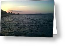 Mediteranean Sunset Greeting Card by Andreea Alecu