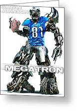 Megatron-calvin Johnson Greeting Card by Peter Chilelli