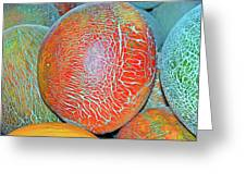 Melons Greeting Card by Charlette Miller