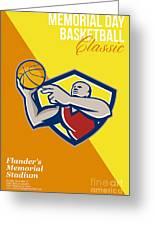 Memorial Day Basketball Classic Poster Greeting Card by Aloysius Patrimonio