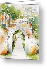 Memorial Gates Greeting Card by Pat Katz