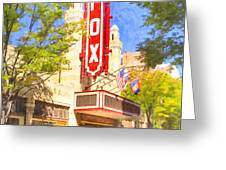 Memories of the Fox Theatre Greeting Card by Mark Tisdale