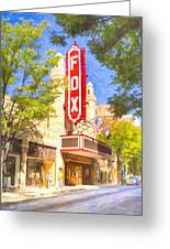 Memories Of The Fox Theatre Greeting Card by Mark E Tisdale