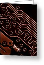 Memory Chip Greeting Card by Bob Orsillo