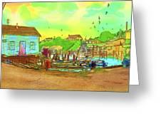 Menemsha Harbor Greeting Card by Gerry Robins
