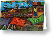 Mercado Mexicana Greeting Card by Patti Schermerhorn