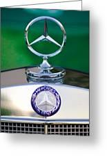 Mercedes Benz Hood Ornament 3 Greeting Card by Jill Reger