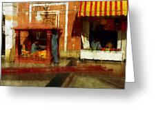 Merchant Greeting Card by Carl Rolfe