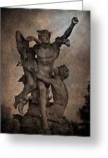 Mercury Carrying Eurydice To The Underworld Greeting Card by Loriental Photography