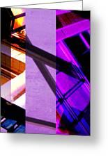 Merged - Purple City Greeting Card by Jon Berry