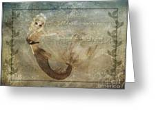 Mermaid-2 Photoart Greeting Card by Becky Hayes