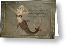 Mermaid-5 Photoart Greeting Card by Becky Hayes