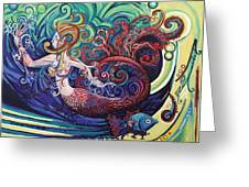 Mermaid Gargoyle Greeting Card by Genevieve Esson