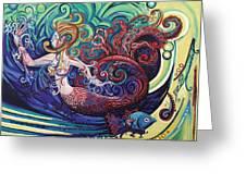 Mermaid Gargoyle Greeting Card by Genevieve Esson