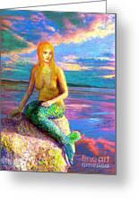 Mermaid Magic Greeting Card by Jane Small