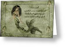 Mermaid Photoart Greeting Card by Becky Hayes